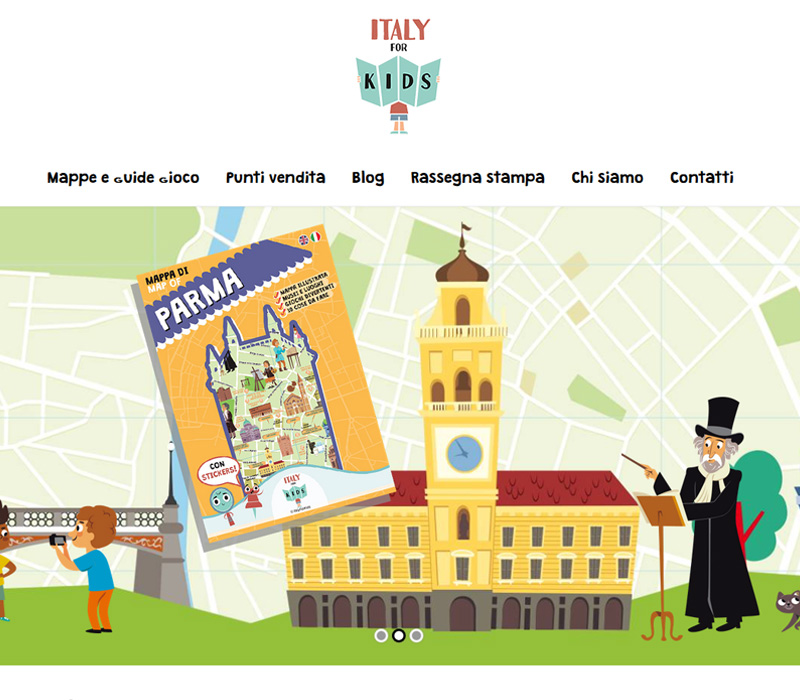 Italy for Kids - Wordpress website